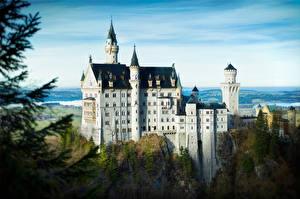 Обои Замки Германия Нойшванштайн Бавария