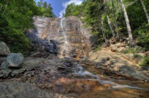 Обои Водопады США Камни Калифорния Скала Arethusa Livermore Природа фото