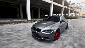 Обои для рабочего стола BMW Серебряная Фары m3 машины
