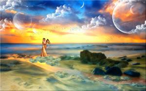 Фотография Любовь Море Планеты Небо Кино