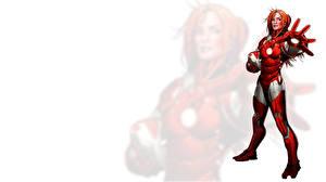 Фото Герои комиксов Железный человек герой Фантастика Девушки