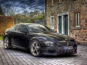 Картинки BMW Черных HDRI автомобиль