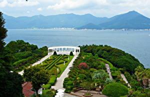 Обои Сады Южная Корея Горы Ландшафт Дизайн Оedo botanical Природа фото