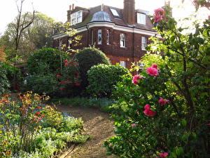 Обои Англия Сады Дома Hampstead город