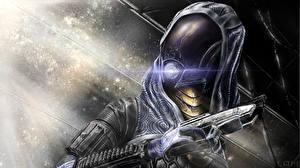 Фото Mass Effect Пистолеты Воины Tali Zorah Броня Шлем Фэнтези