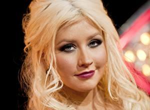 Обои Christina Aguilera Лицо Блондинка Взгляд Волосы Музыка Девушки Знаменитости фото