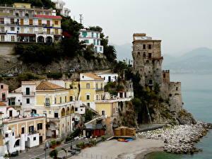 Фотографии Италия Здания Амальфи город