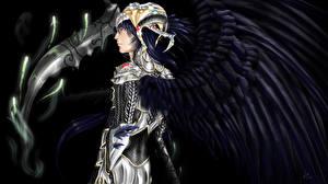 Фотография Ангелы Мужчины Крылья Доспехи С рогами Фэнтези