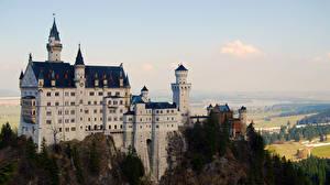 Картинка Замки Германия Нойшванштайн Бавария город