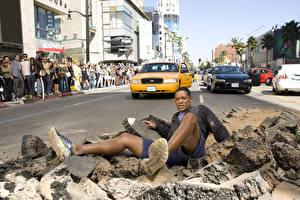 Обои Хэнкок Will Smith Мужчины Камень Дороги Улица Негр Кино Знаменитости