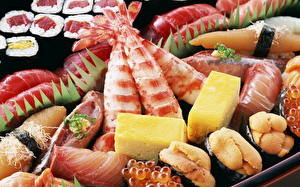 Обои Морепродукты Суши Рыба Икра Еда фото