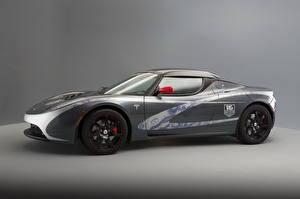Картинки Tesla Motors Серый Сбоку Родстер 2010 Roadster