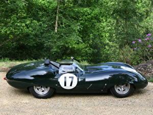 Фото Jaguar Старинные Черный Сбоку Кабриолет Родстер 1959 Costin roadster