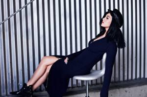 Фотография Katy Perry Стенка Полоски Брюнетка Музыка Знаменитости Девушки