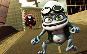 Обои Crazy Frog Дороги Глаза Очки Взгляд 3D_Графика