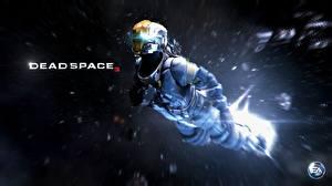 Картинка Dead Space Dead Space 0 Воины Летящий Броня Шлем Космос Фэнтези