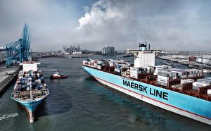 Картинка Корабли Контейнеровоз Maersk Line