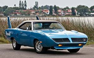 Фотография Plymouth Ретро Голубой Road Runner Superbird 1970