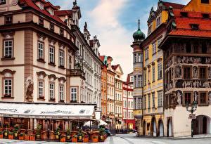 Фото Чехия Дома Прага Улица Кафе
