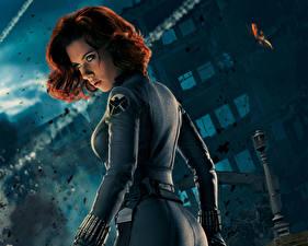 Обои Мстители (фильм, 2012) Scarlett Johansson Рыжая BLACK WIDOW Знаменитости Девушки