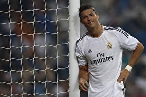Фотографии Футбол Мужчины Криштиану Роналду Сетка Real Madrid Спорт