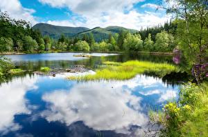 Фотография Пейзаж Шотландия Озеро Природа