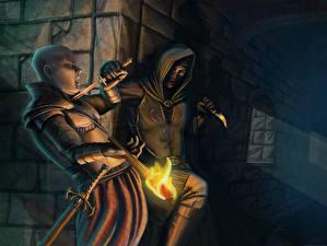 Фотографии Иллюстрации к книгам Воин Нож Факела Мечи Вдвоем Сага о Видящих Фантастика