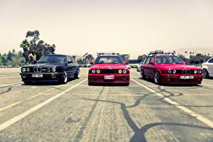 Фото BMW Спереди Парковке E34 M5 E30 325i машина
