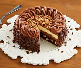 Фотография Сладости Торты Шоколад Продукты питания