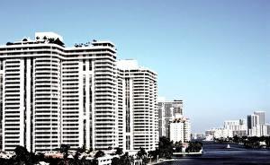 Обои США Дома Майами Города фото