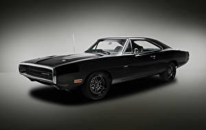 Фотографии Dodge Черные Charger 1970 Авто