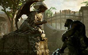Обои Gears of War Мужчина Ангел Игры 3D_Графика Фэнтези