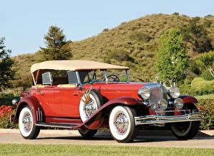 Фотографии Chrysler Ретро Красные CG Imperial Dual Cowl Phaeton 1931
