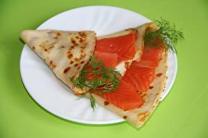 Обои Морепродукты Рыба Тарелка Еда фото