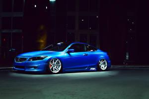 Фотографии Honda Синий Сбоку Accord автомобиль