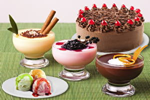 Обои Сладости Торты Шоколад Мороженое Тарелке Еда