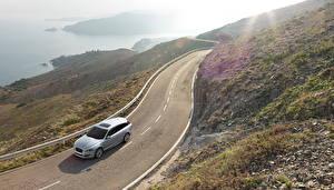 Фотография Jaguar Дороги Пейзаж 2012 XF Sportbrake Автомобили Природа