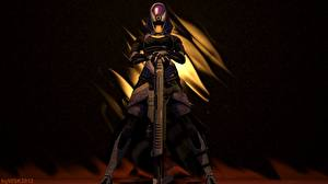 Обои Mass Effect Tali Zorah Броня Фэнтези