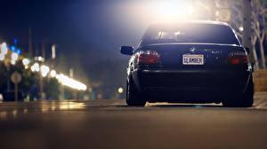 Фото BMW Вид сзади В ночи 740 e38 Автомобили