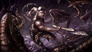 Фото Vin Diesel Воин Мужчины Битва Чудовище Риддик фильм Знаменитости Фэнтези