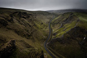 Фотография Гора Дороги Англия Сверху Winnats Pass Duncan Fawkes Photography Природа