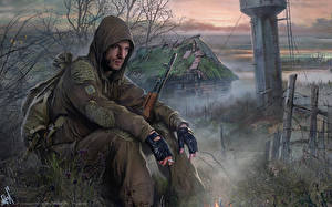 Картинки STALKER Мужчины Воители Капюшон Туман