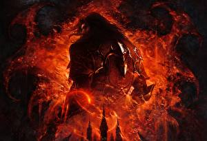 Картинки Castlevania Castlevania: Lords of Shadow Мужчины Спина Игры Фэнтези