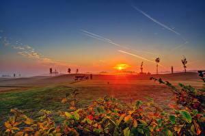 Фото Рассветы и закаты Германия Небо Эдигер-Эллер Солнце Природа
