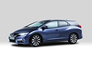Картинки Honda Синий Сбоку 2013 Civic Tourer авто
