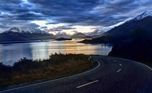 Обои Дороги Пейзаж Горы Облака Природа