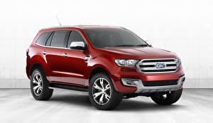 Картинки Ford Бордовые Металлик 2013 Everest машина