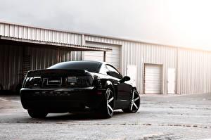 Фотографии Ford Черных Сзади mustang машины
