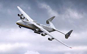 Картинки Самолеты Транспортный самолёт Летящий Antonov An-225 Mriya