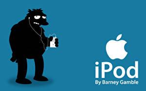 Фото Бренды Apple Симпсоны Логотип эмблема Векторная графика ipod barney Музыка